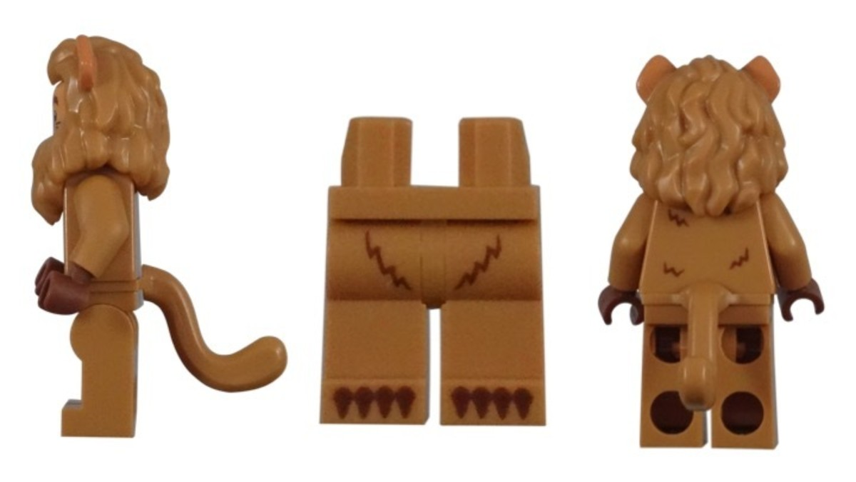 LEGO Cowardly Lion Minifigure Leg and Tail Pieces
