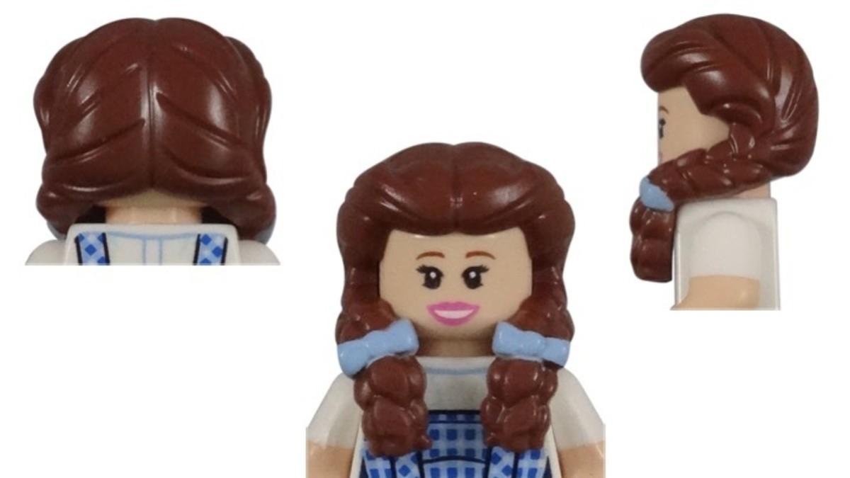 LEGO Dorothy Gale Minifigure Hair Piece