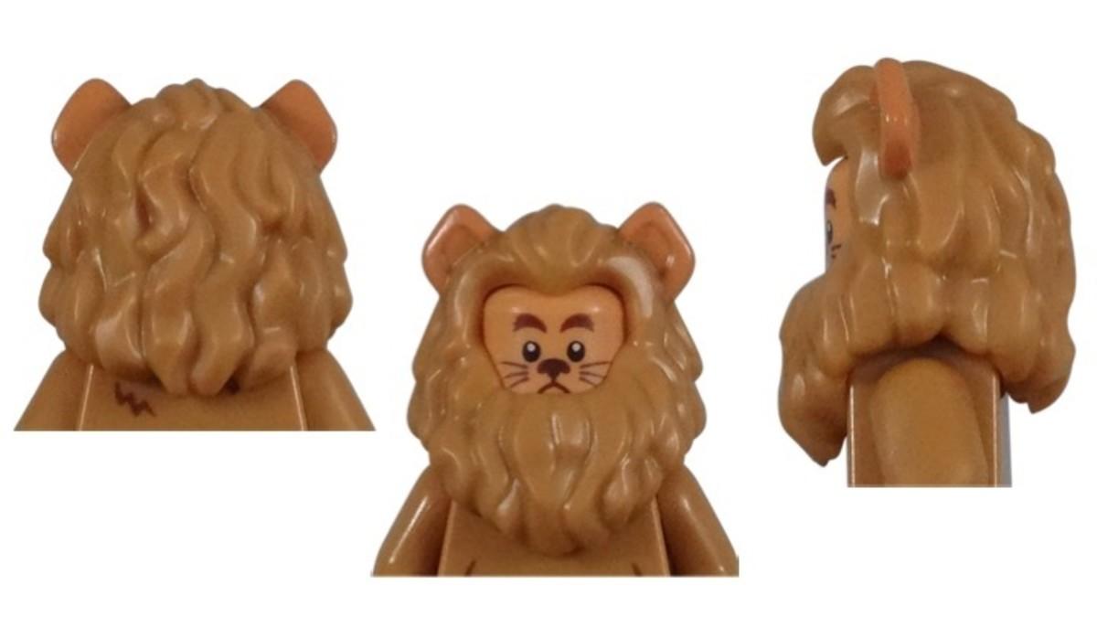 LEGO Cowardly Lion Minifigure Hair/Hat Piece