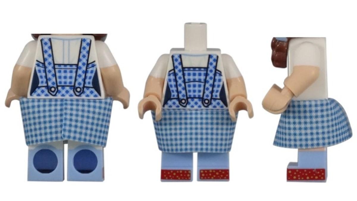 LEGO Dorothy Gale Minifigure Torso Piece
