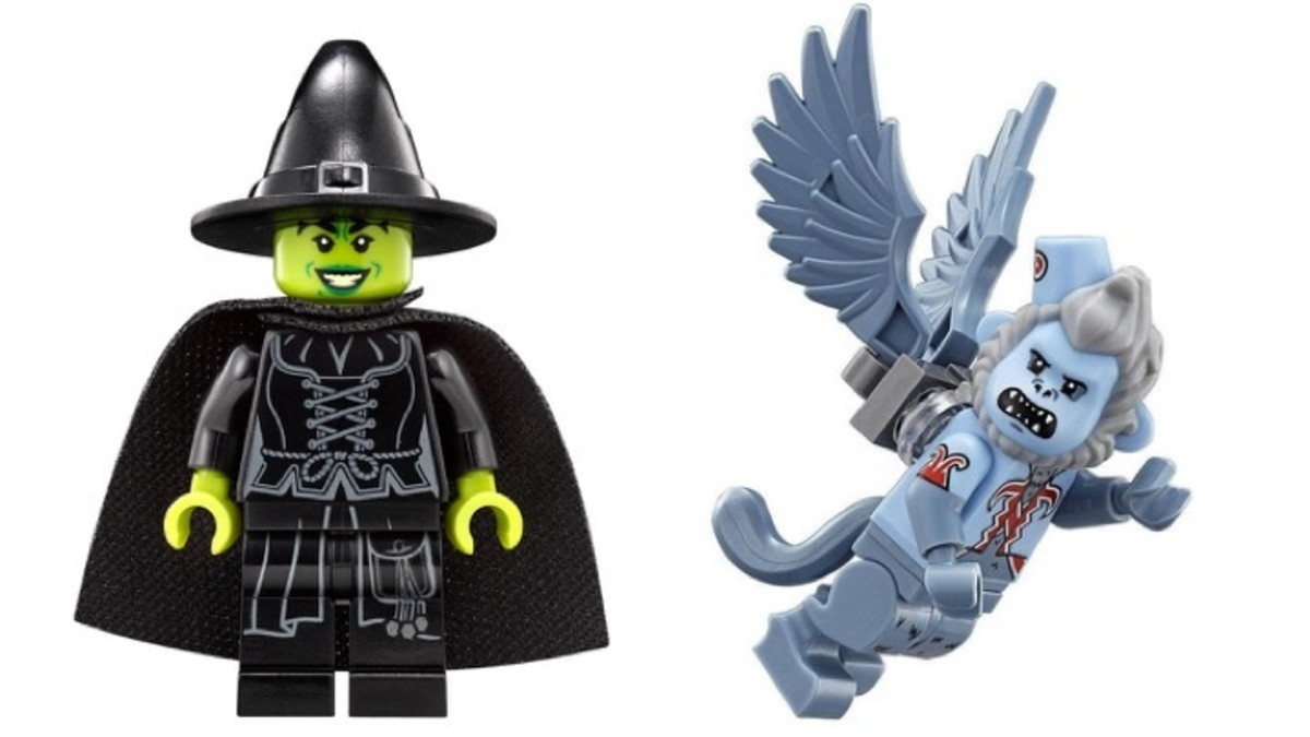 LEGO Wicked Witch and Flying Monkey Minifigures