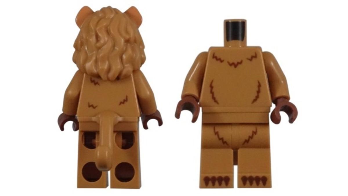 LEGO Cowardly Lion Minifigure Torso Piece