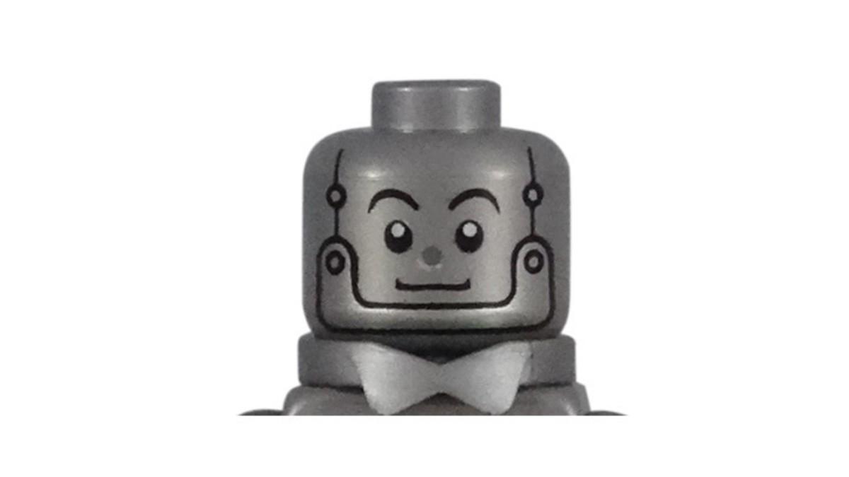 LEGO Tin Man Minifigure Head Piece