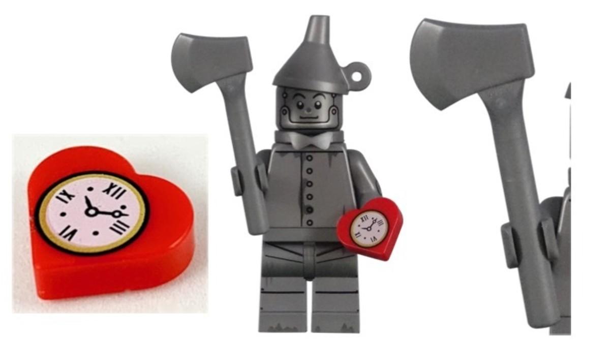 LEGO Tin Man Minifigure Heart and Ax Accessories