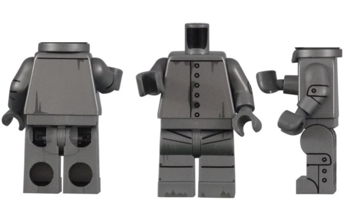 LEGO Tin Man Minifigure Torso Piece