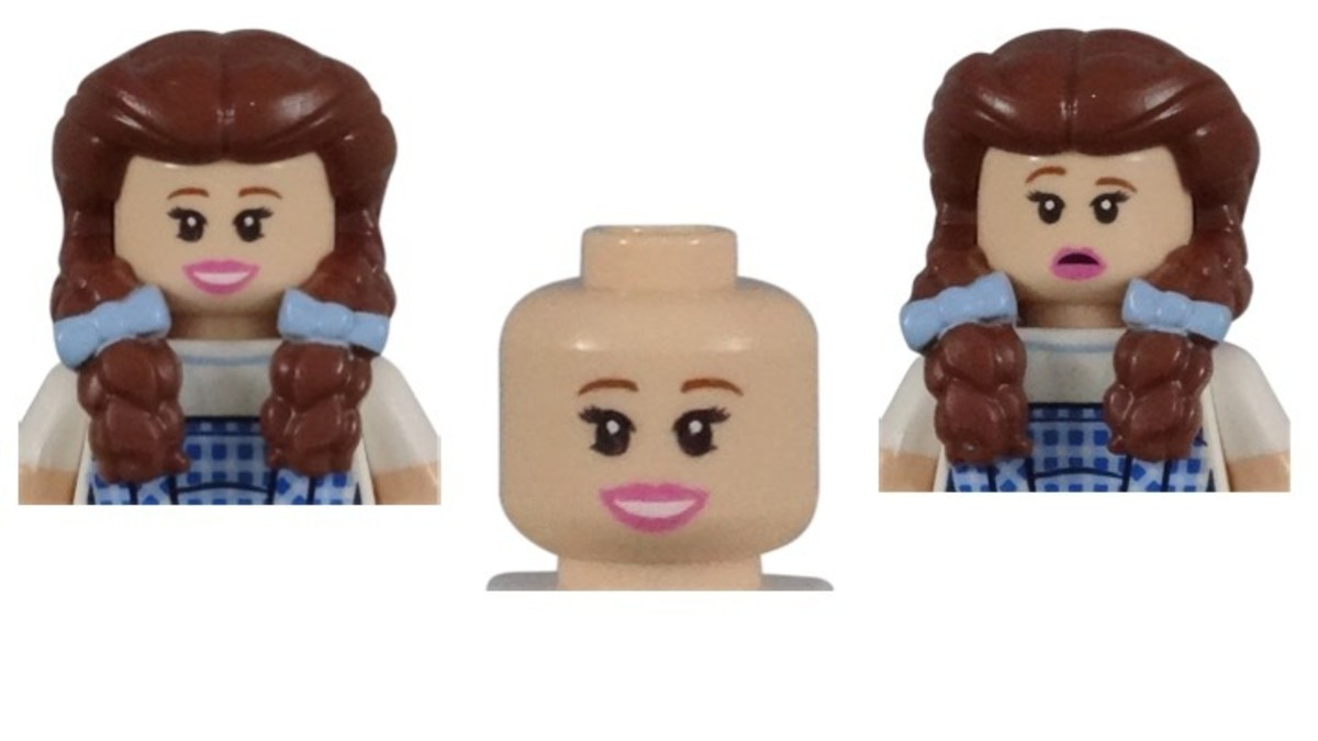 LEGO Dorothy Gale Minifigure Head Piece