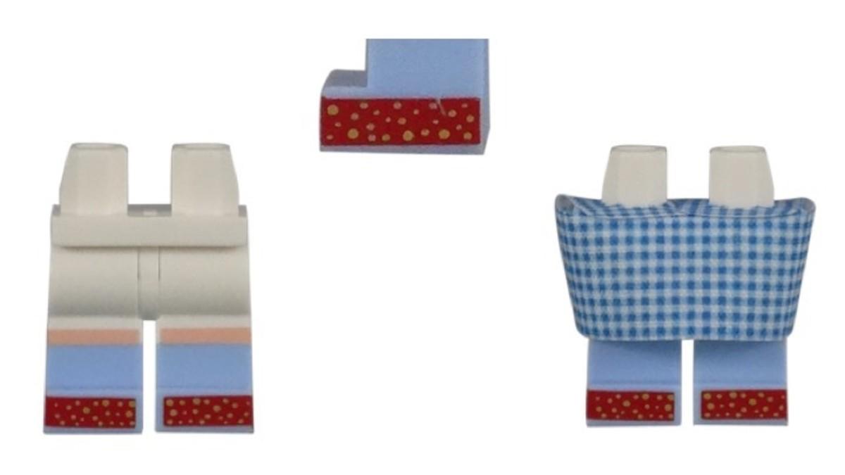 LEGO Dorothy Gale Minifigure Leg/Dress Piece