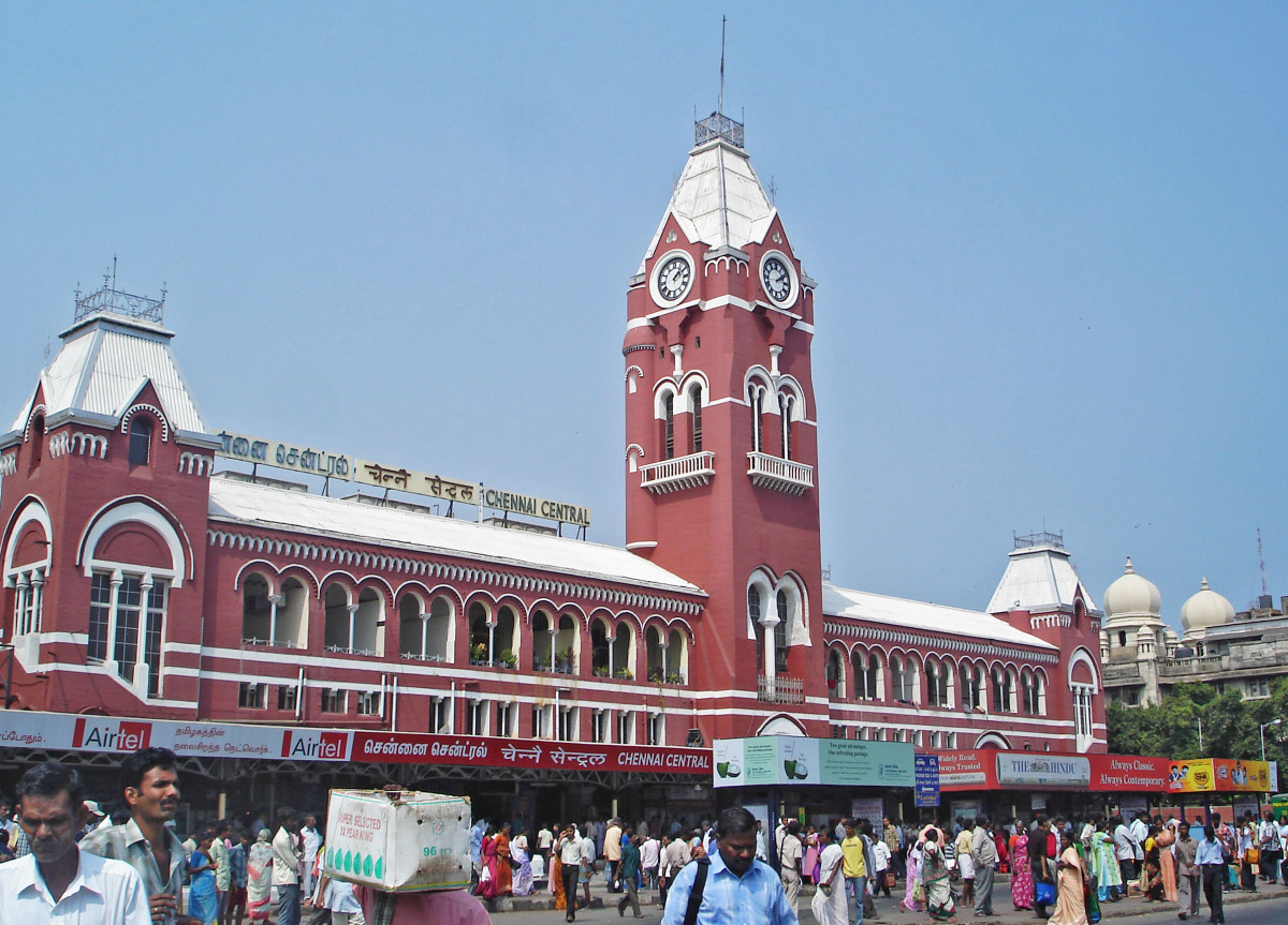 The Chennai  Central Railway station