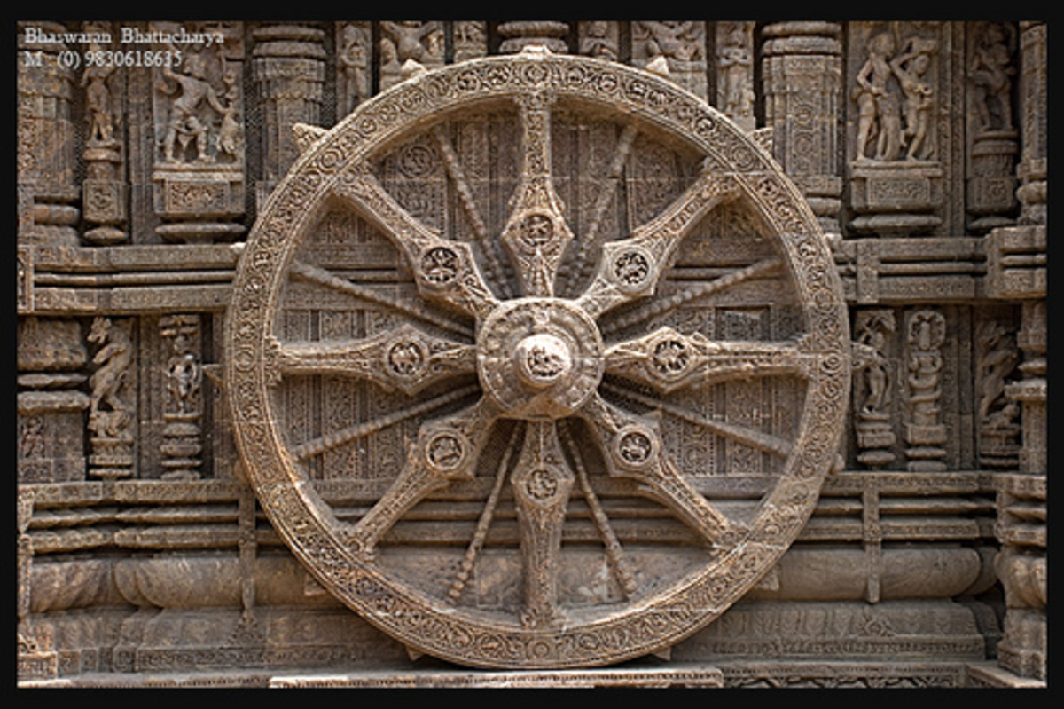 The Chariot Wheel-The symbol of Odisha Tourism