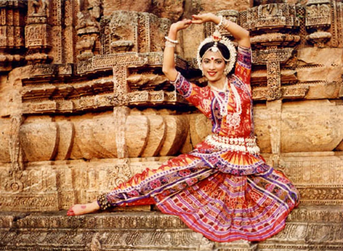 The graceful Odissi dancer