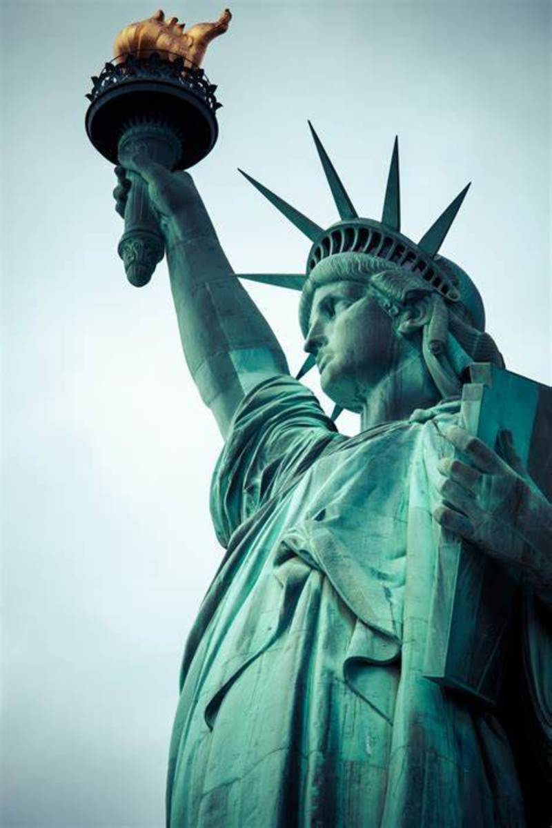 God Lit up the United States of America; Lady Liberty is the Reminder