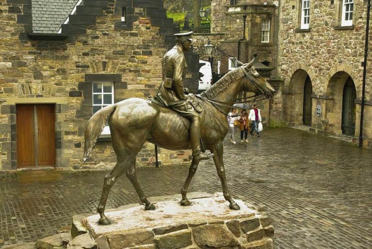 Statue of Marshal Douglas Haig in Edinburgh Castle.