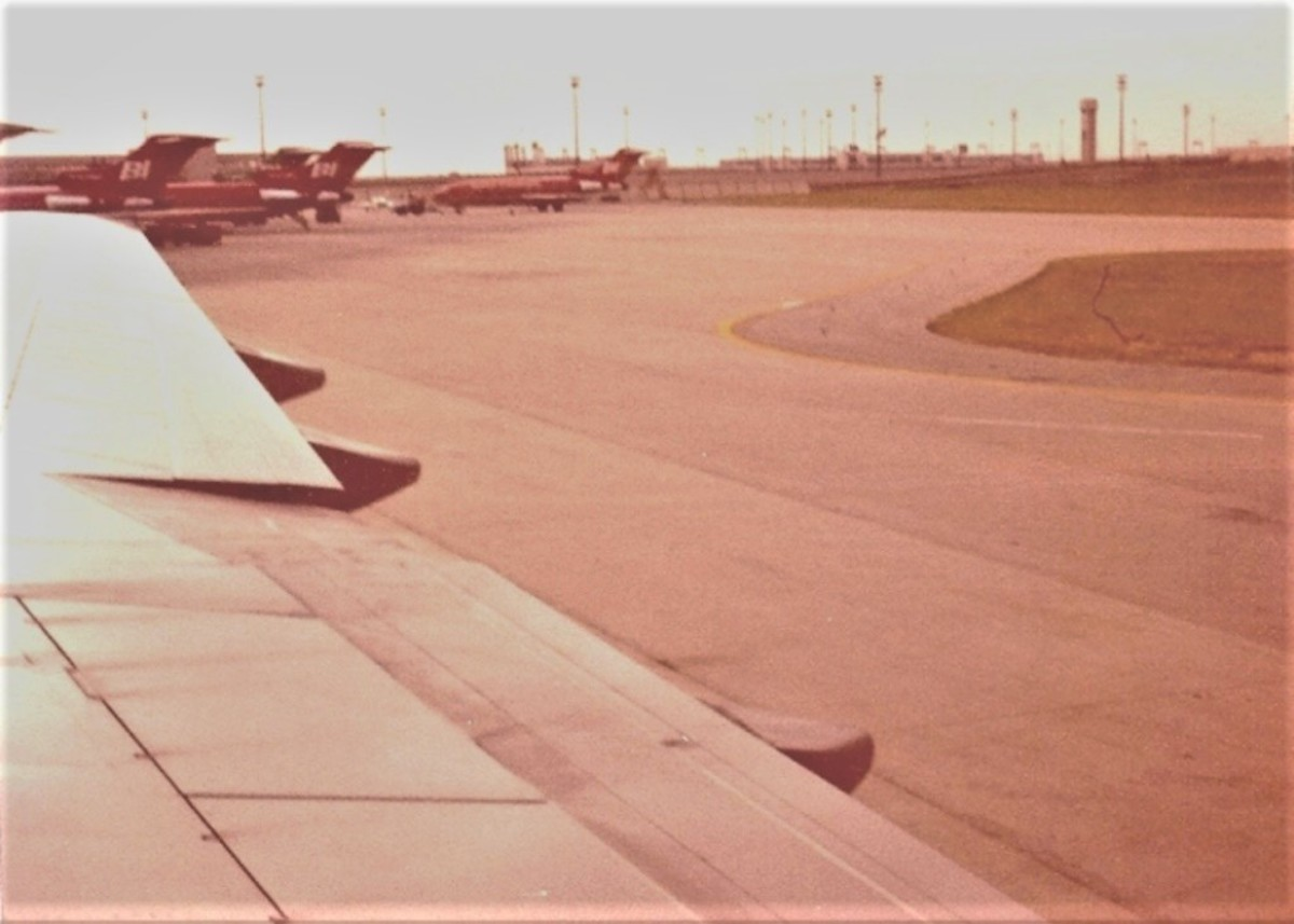 1977 View of the Tarmac at the Braniff Terminal