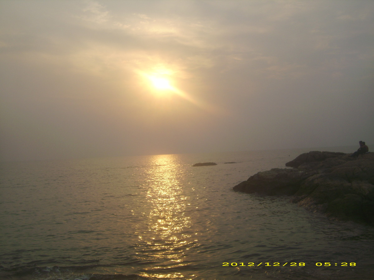 The fascinating sunset in Kappad