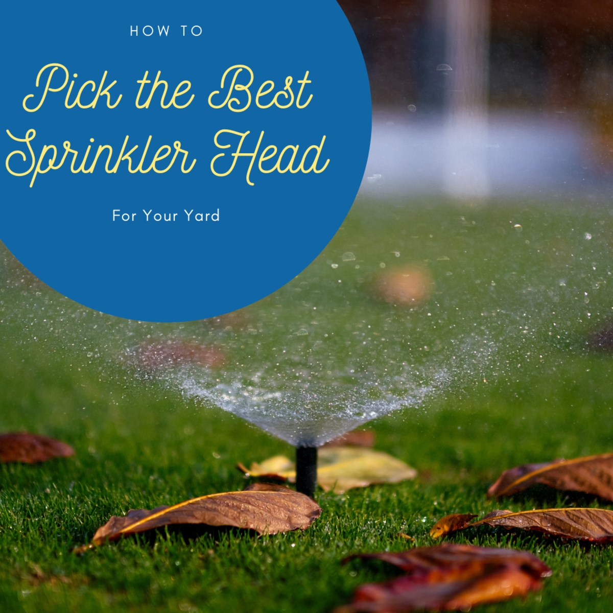 Picking the best sprinkler head for your yard can optimize the health of your plants and trees.