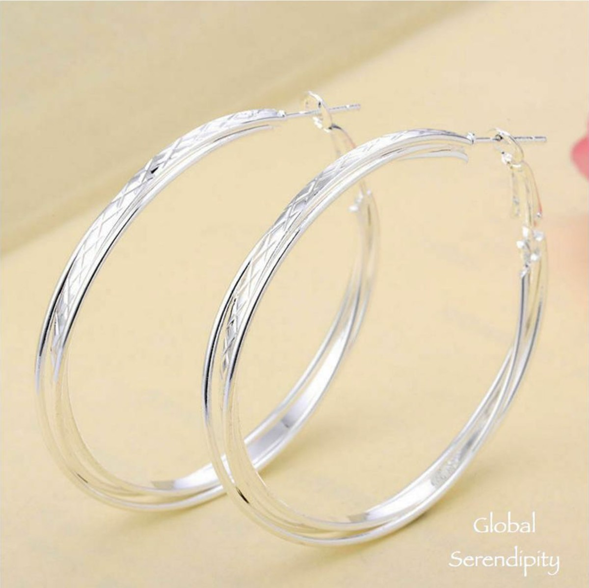 Trending 925 Silver Hoop Earrings