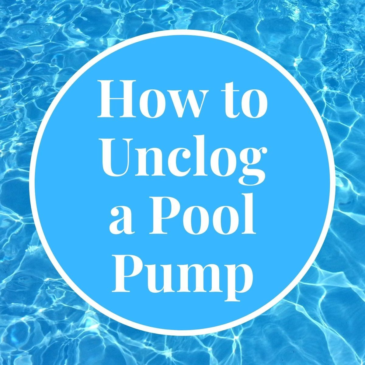 Pool pumps aren't impossible to clean!
