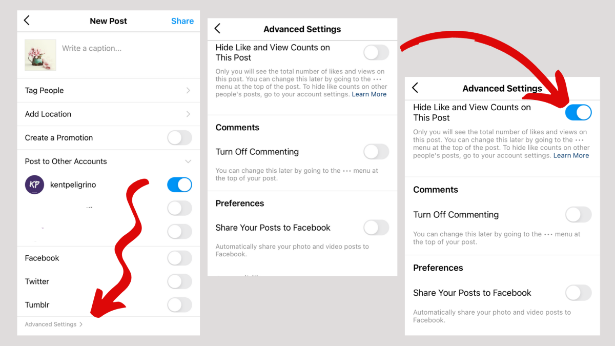 Here's how to hide the likes and views of your own account.