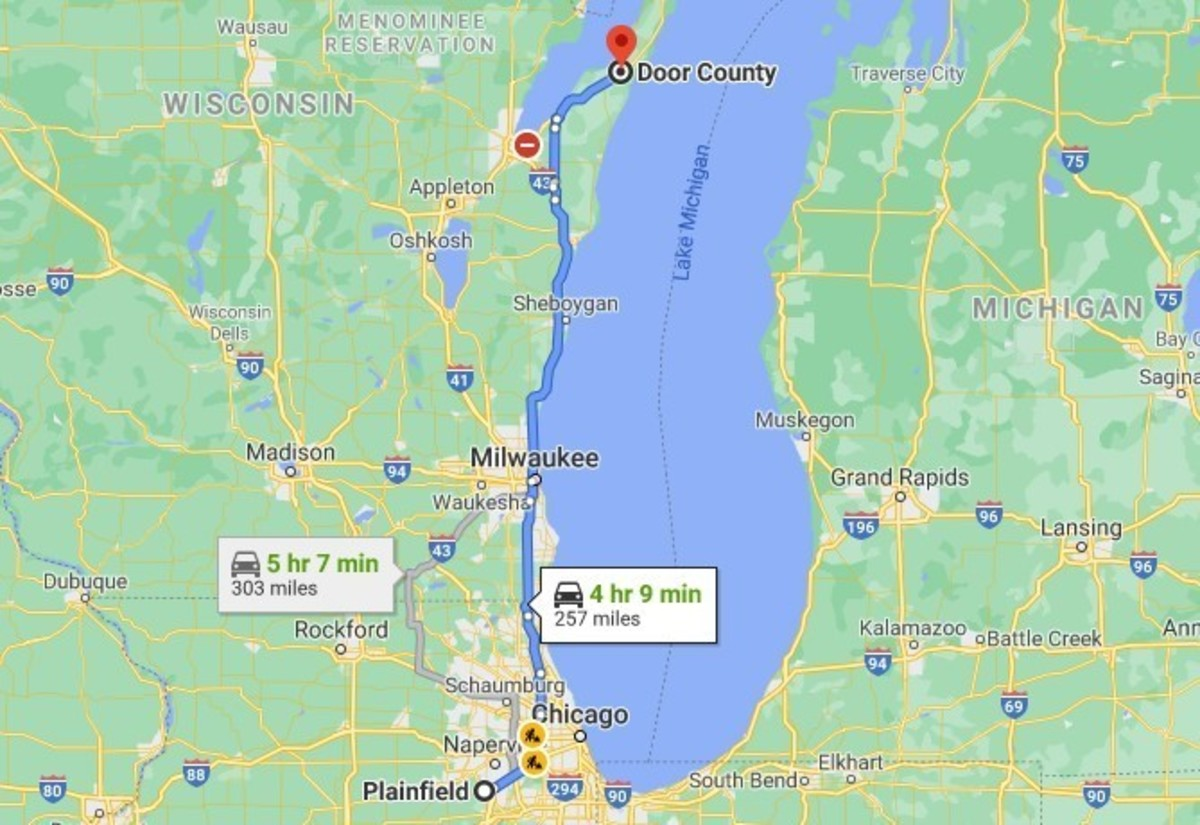 August 17, 2012, Brian Cooper, and Alisha Bromfield left Plainfield, Illinois, to drive 4 hours north to Door County, Wisconsin.