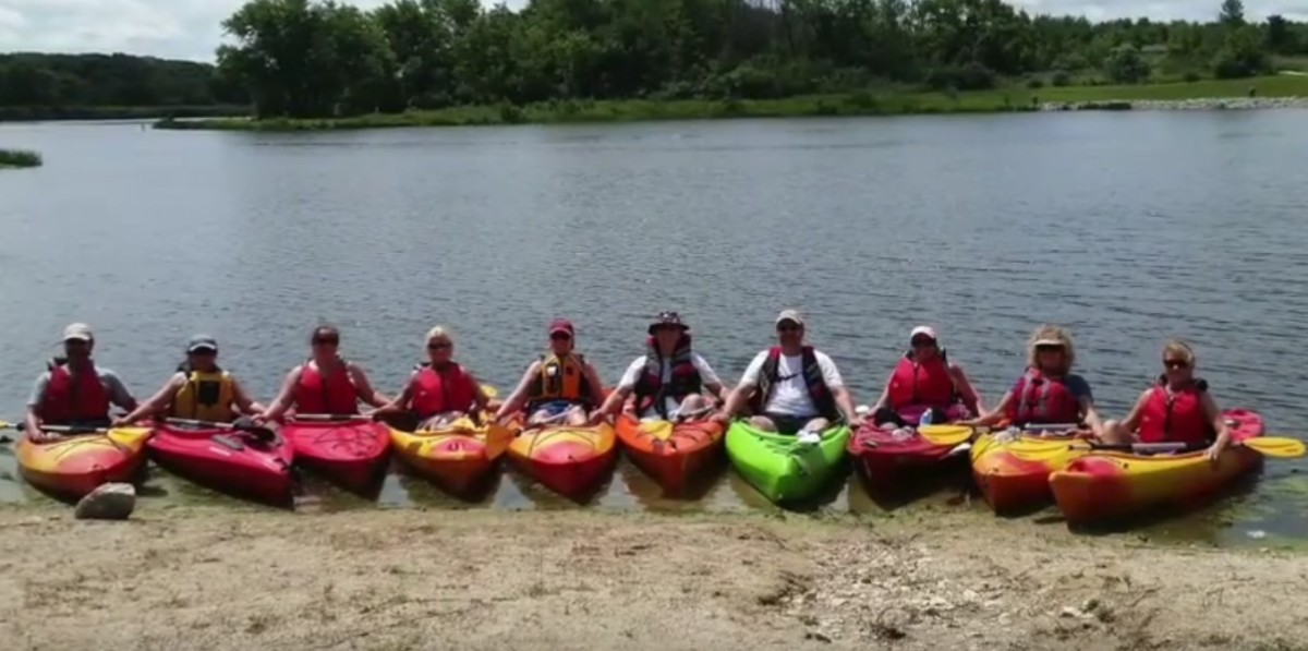Purple Project Kayaking Retreat for parents who have lost a child to murder. Photo courtesy of Purple Project.