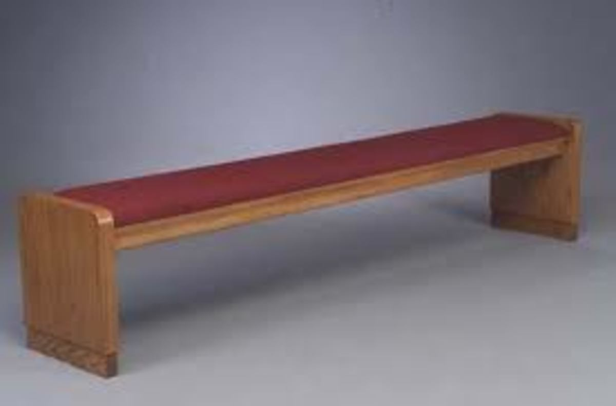 The Prayer Bench Has Replaced The Altar In Many Churches