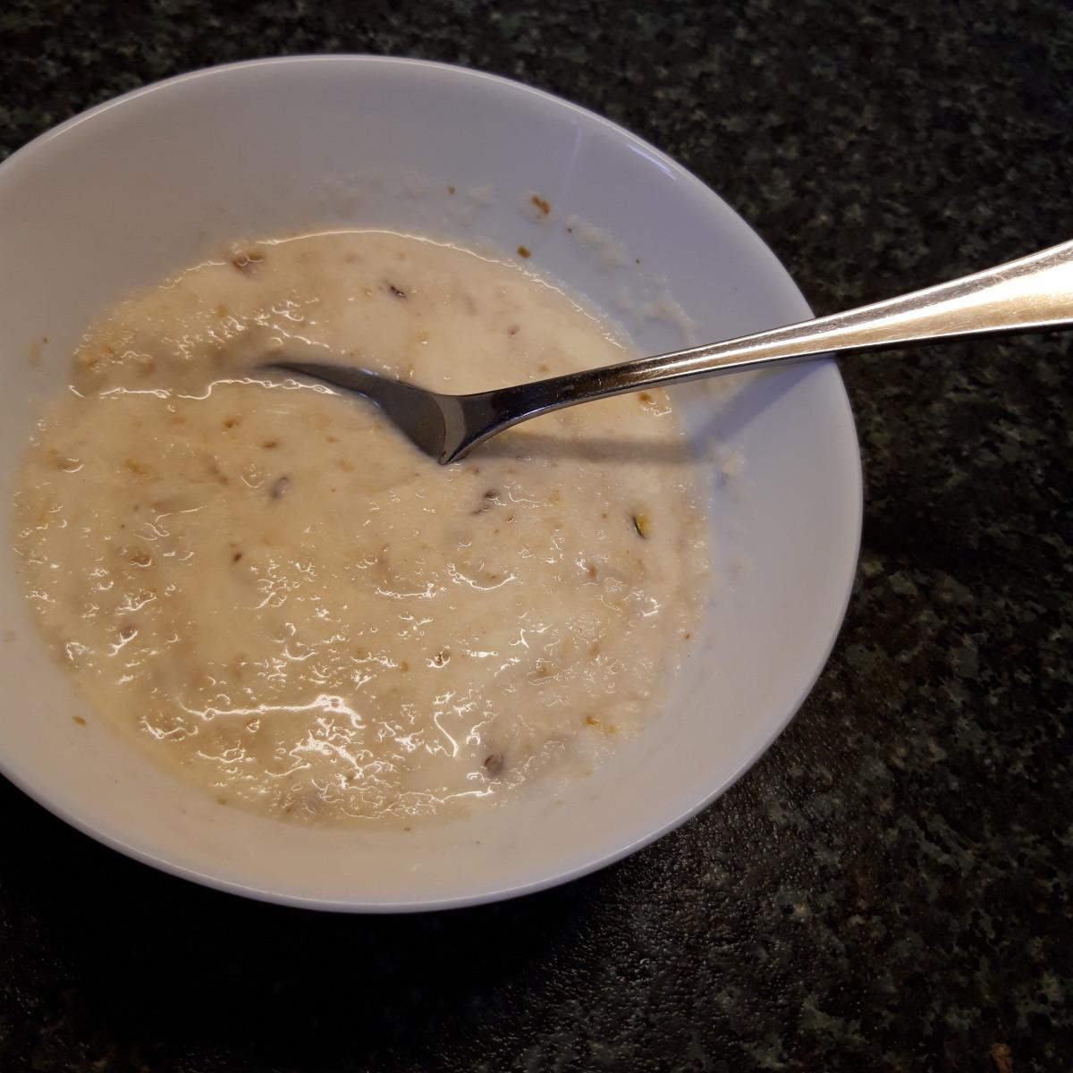 Kaszka with warmed milk