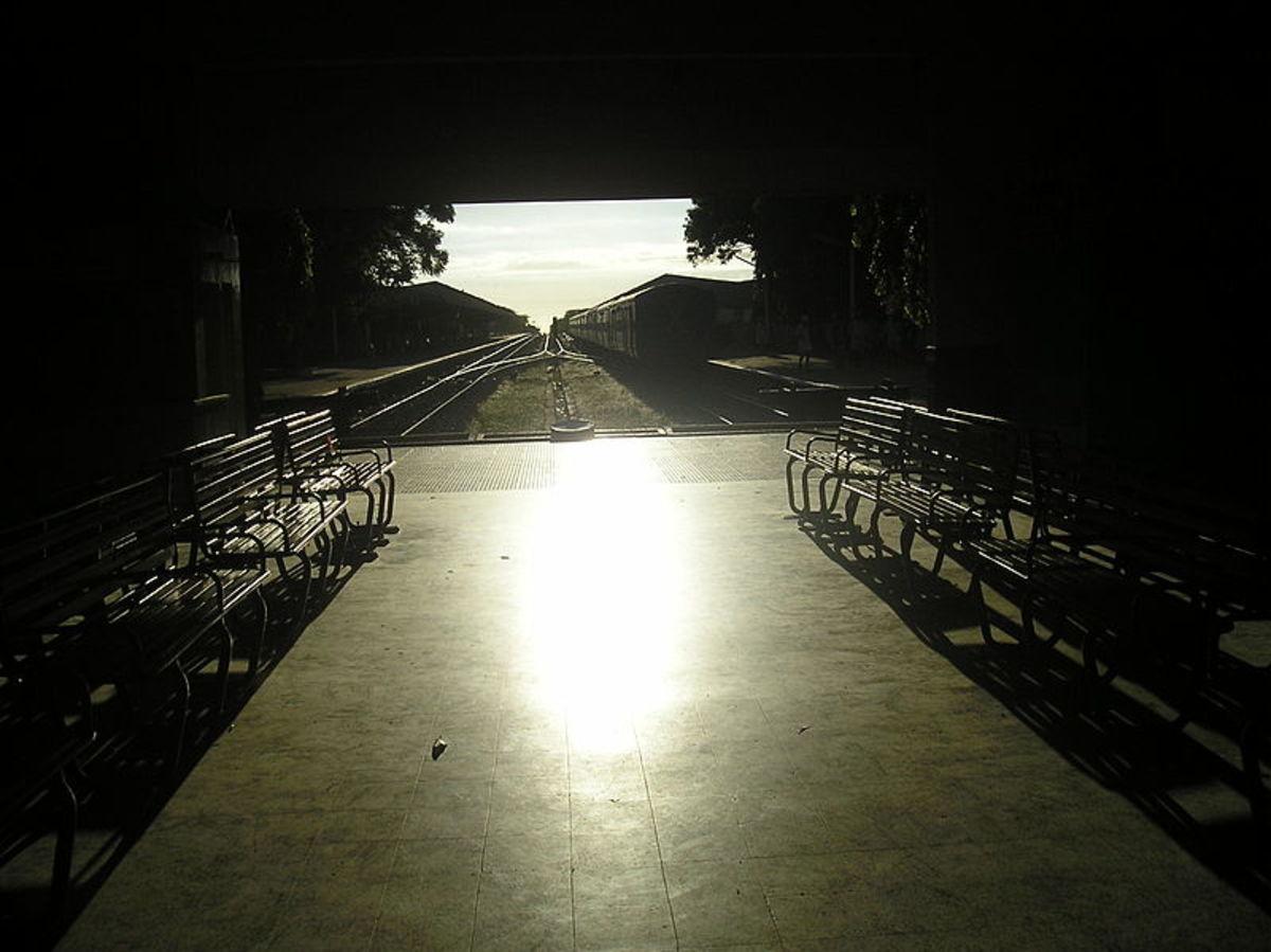 Kanyakumari Railway Station, the southern most railway station in India.