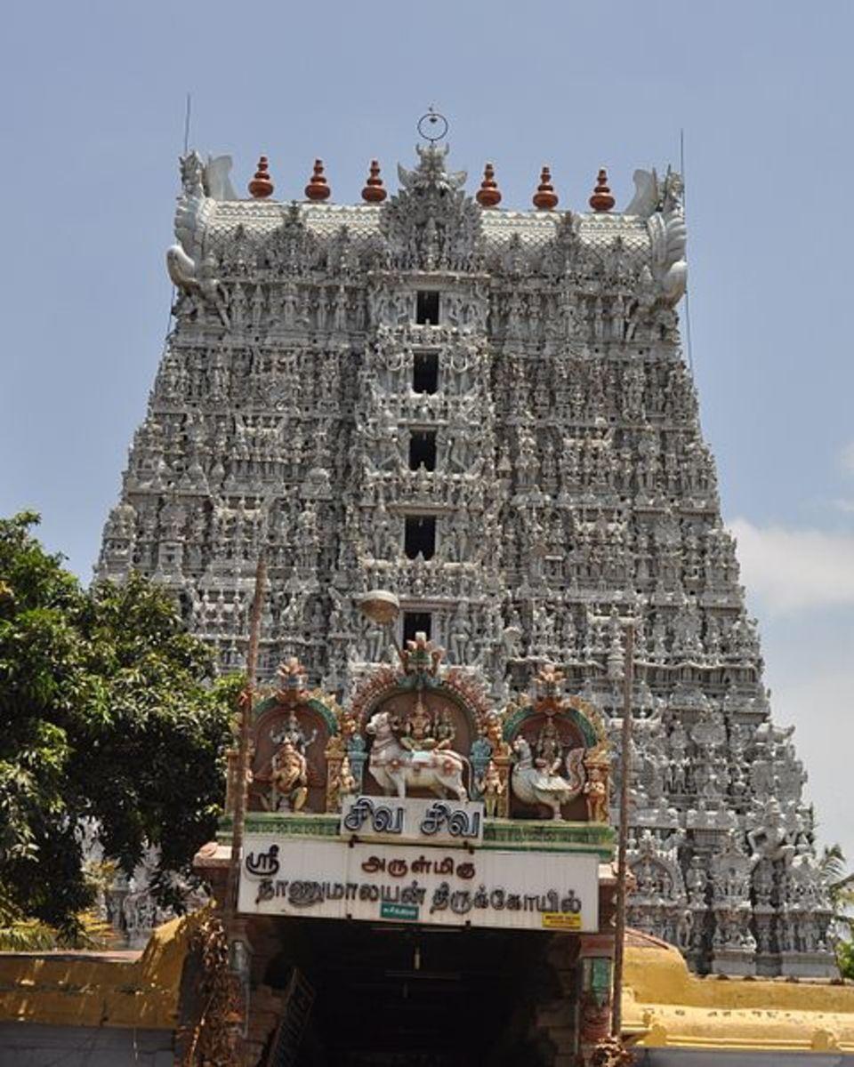 Sucheendram Temple near Kanyakumari