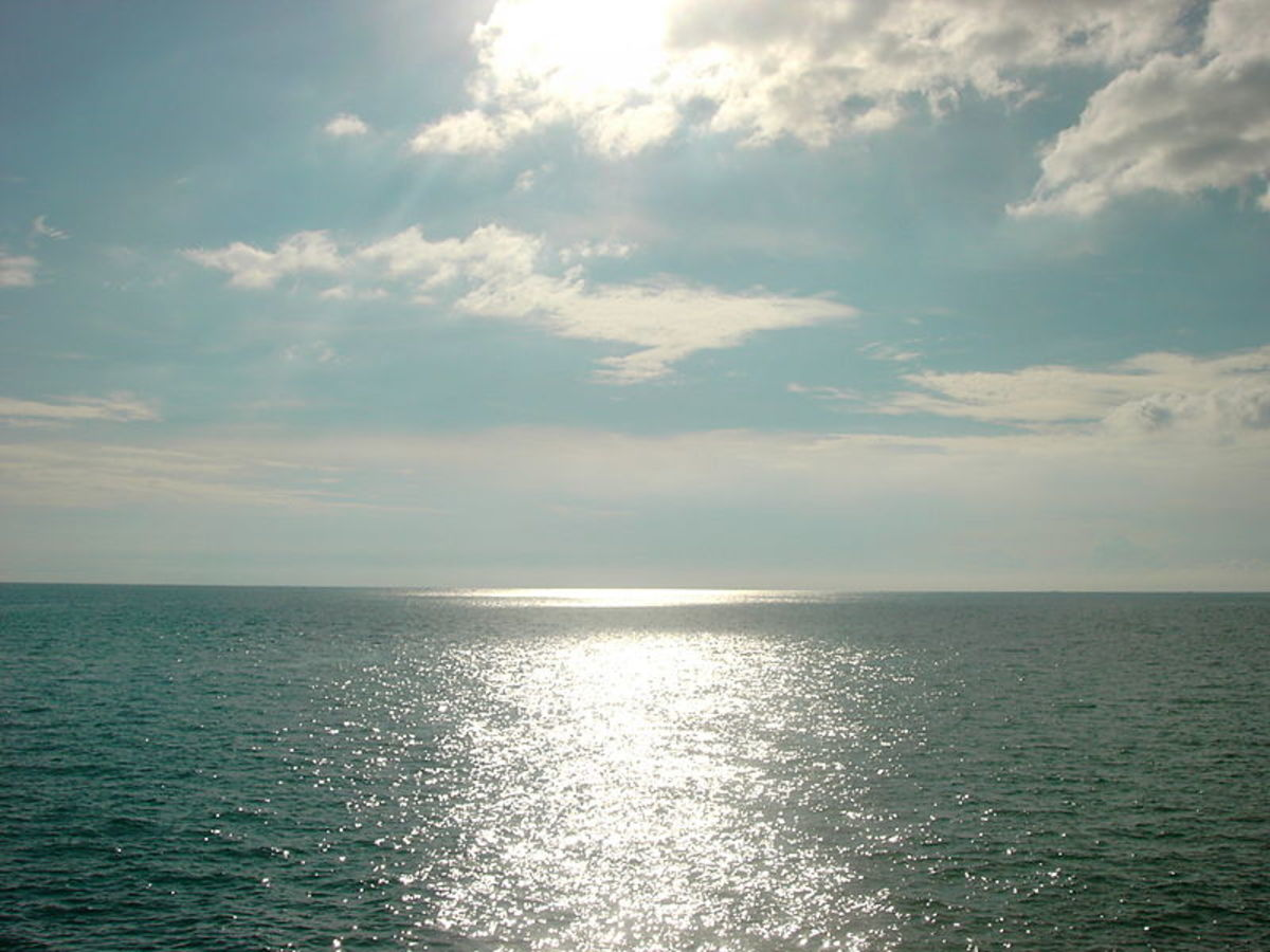 The magnificent view of the sea