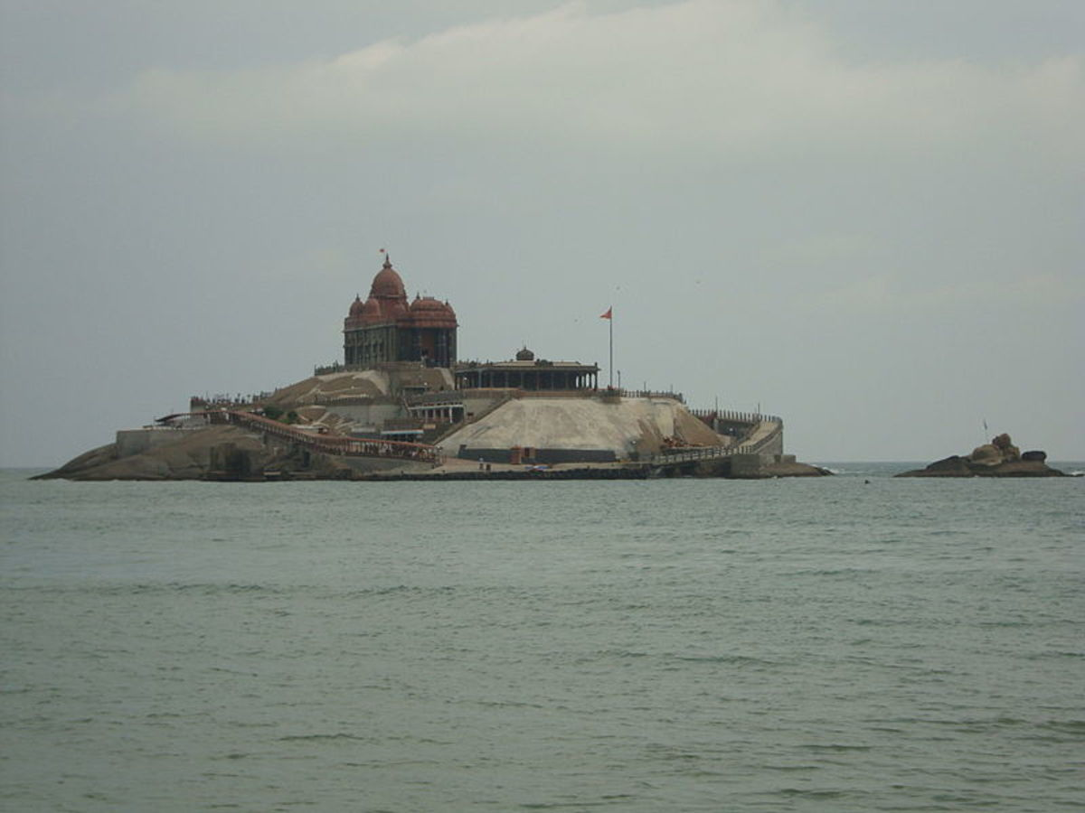 Vivekananda reached here all by swimming facing the violent waves