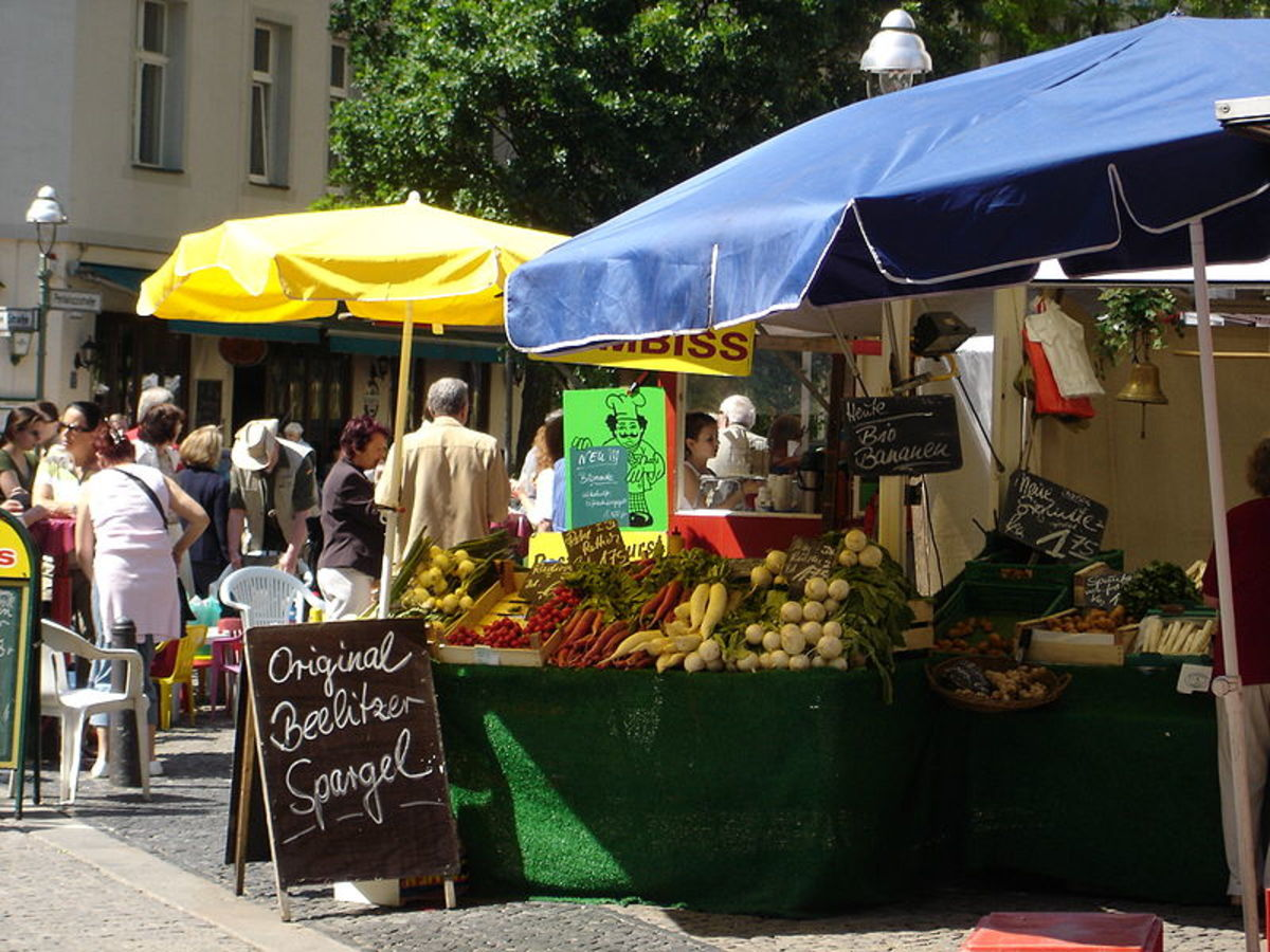 Visiting the local farmers market or bazaar while traveling is a great way to experience local culture.