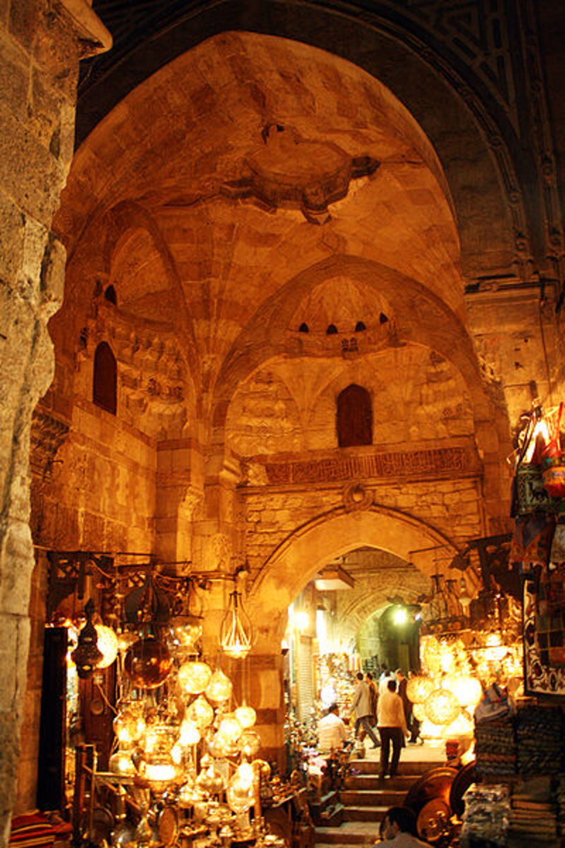 The ancient and beautiful architecture of Khan El-Khalili.
