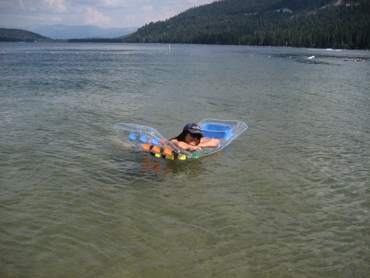 Floating out in the middle of the lake. Can life get any better?