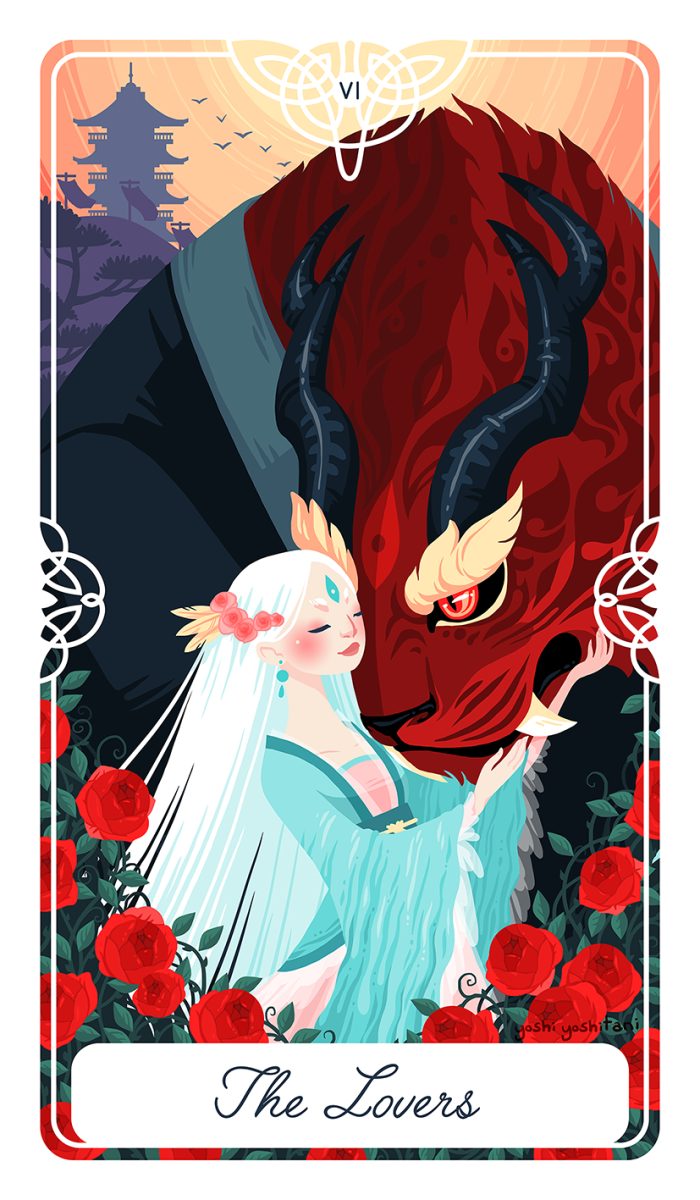 The Lovers card calls on the querent to find more harmony. It encourages a life of love, to appreciate beauty, and to find inner acceptance.