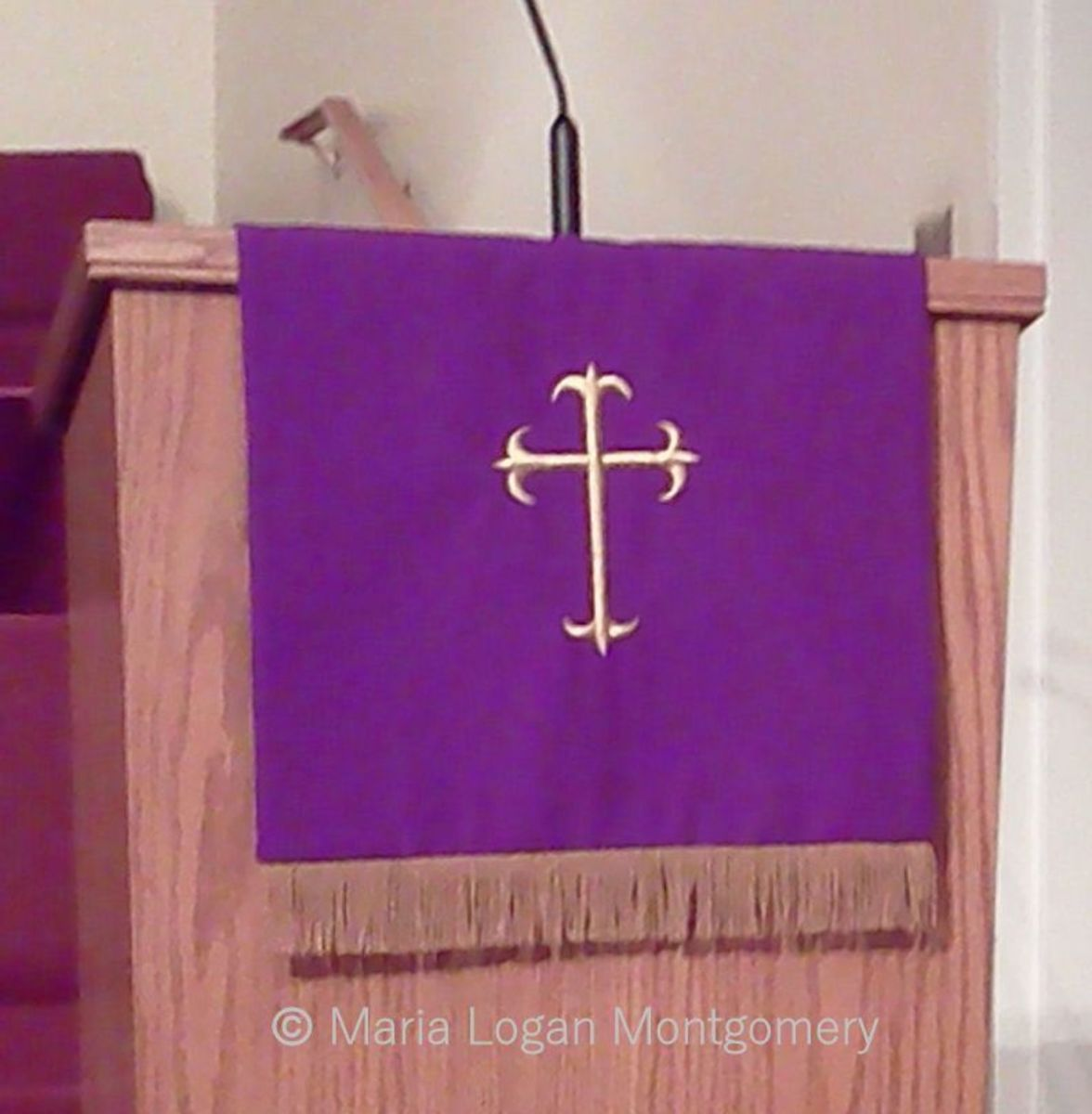 Purple is the liturgical color for Advent