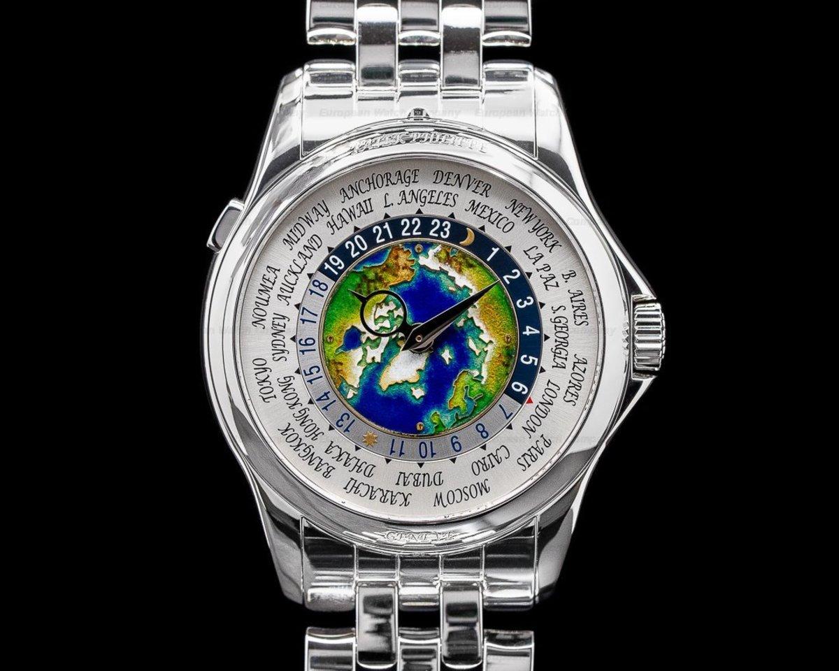 Patek Philippe world time zone watch.
