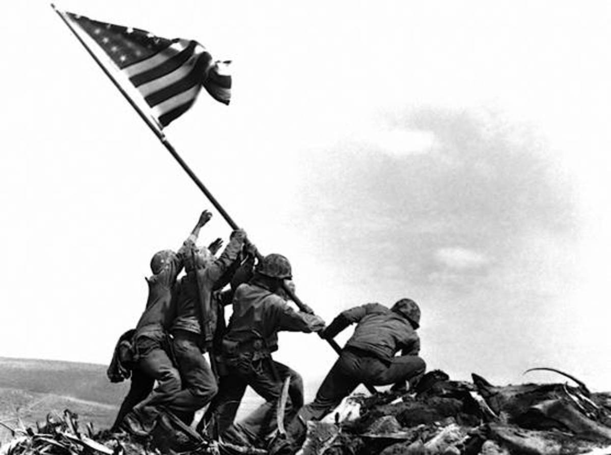 The flag raisers of Iwo Jima.