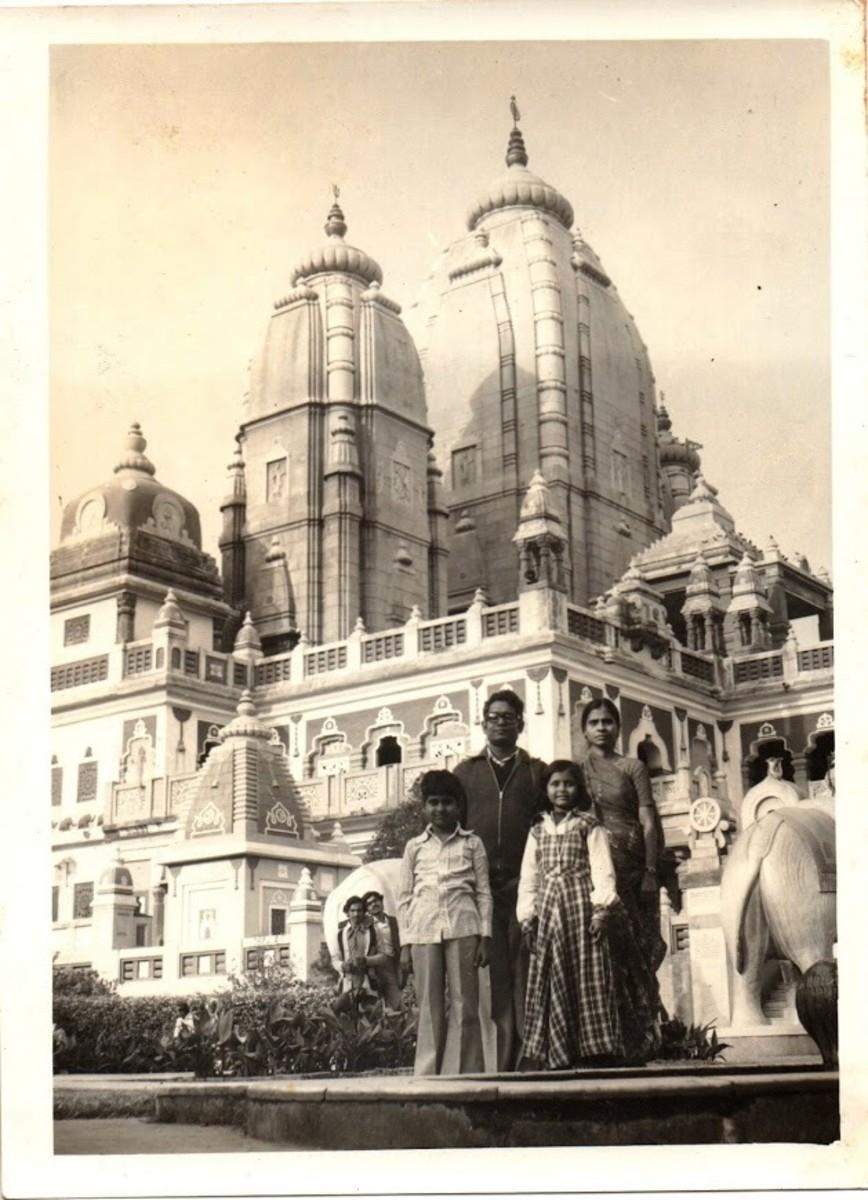 Olden Golden memories - an old photograph of our family at the Birla Temple, Delhi .... Vanita Thakkar