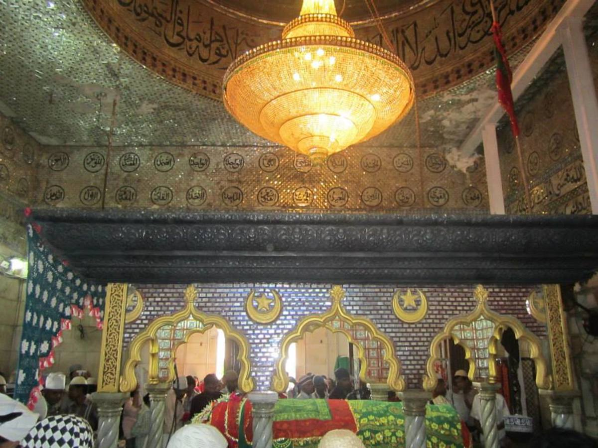 The beautiful interior of the Mosque