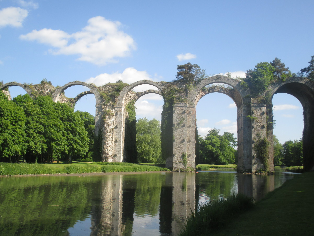 The half-completed aqueduct today