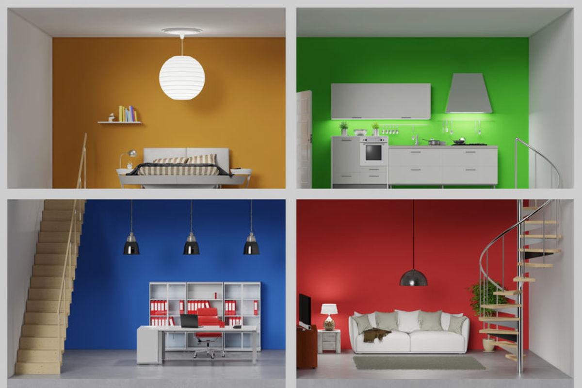 4-Room modern miniature house with minimalist style interior.