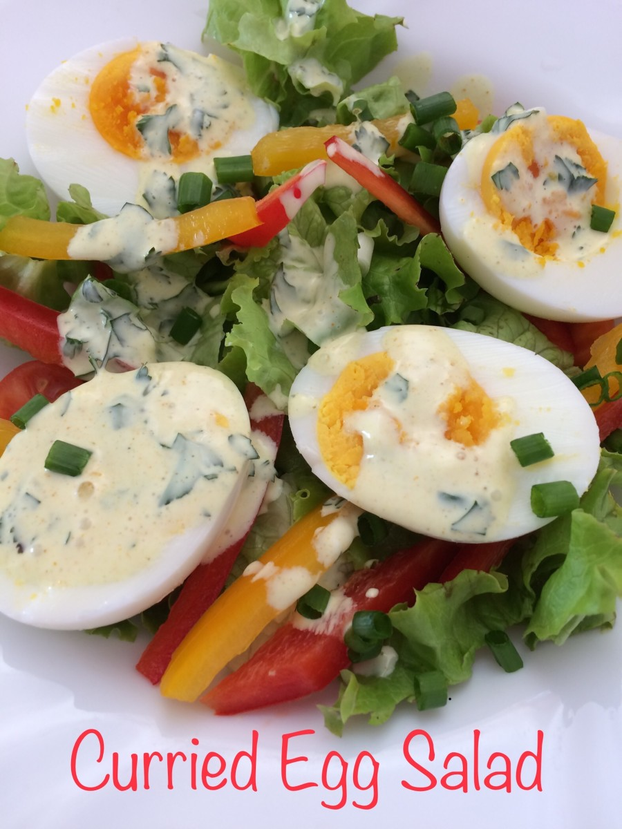 Curried Egg Salad with Hen Eggs