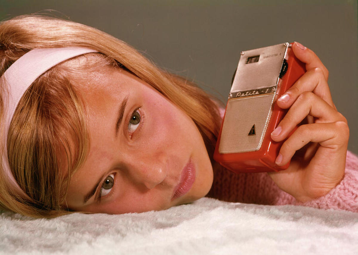 """A girl and her transistor radio"""": perfect peace."""