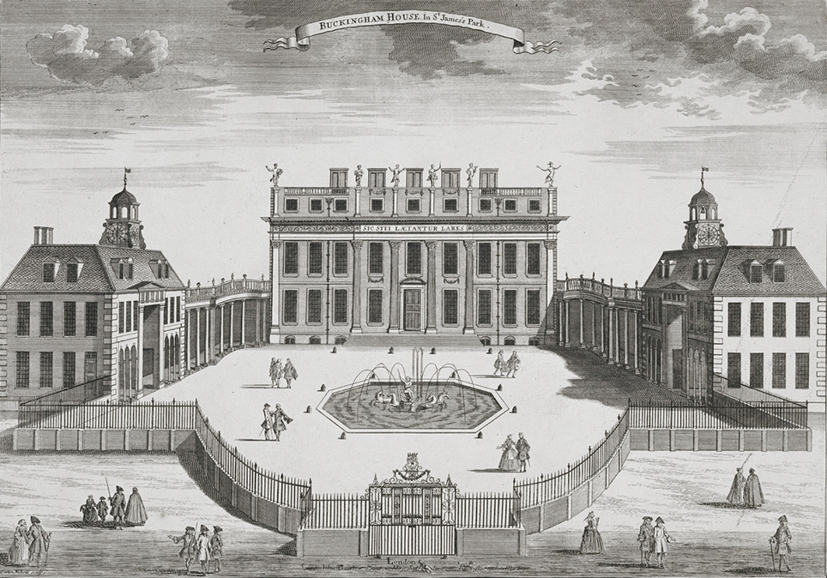 Buckingham House circa 1710. The property was built and owned by John Sheffield,1st  Duke of Buckingham and Normanby.