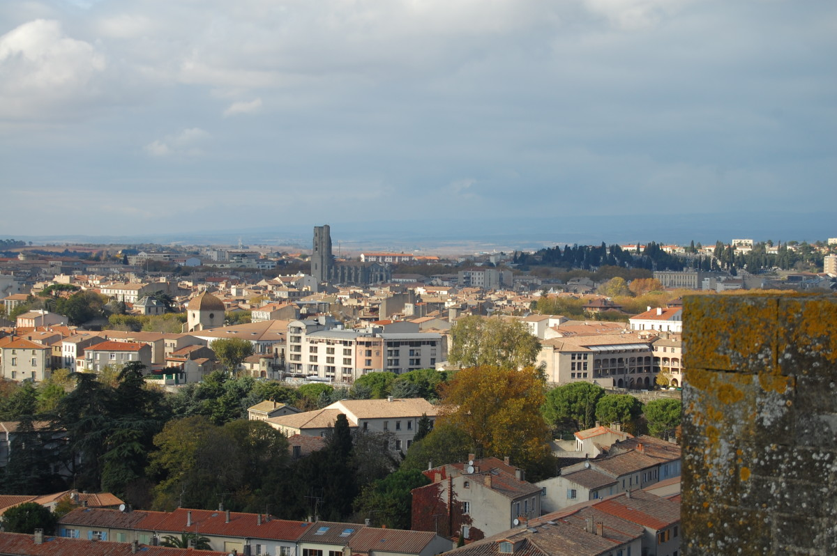 View over new Carcassonne