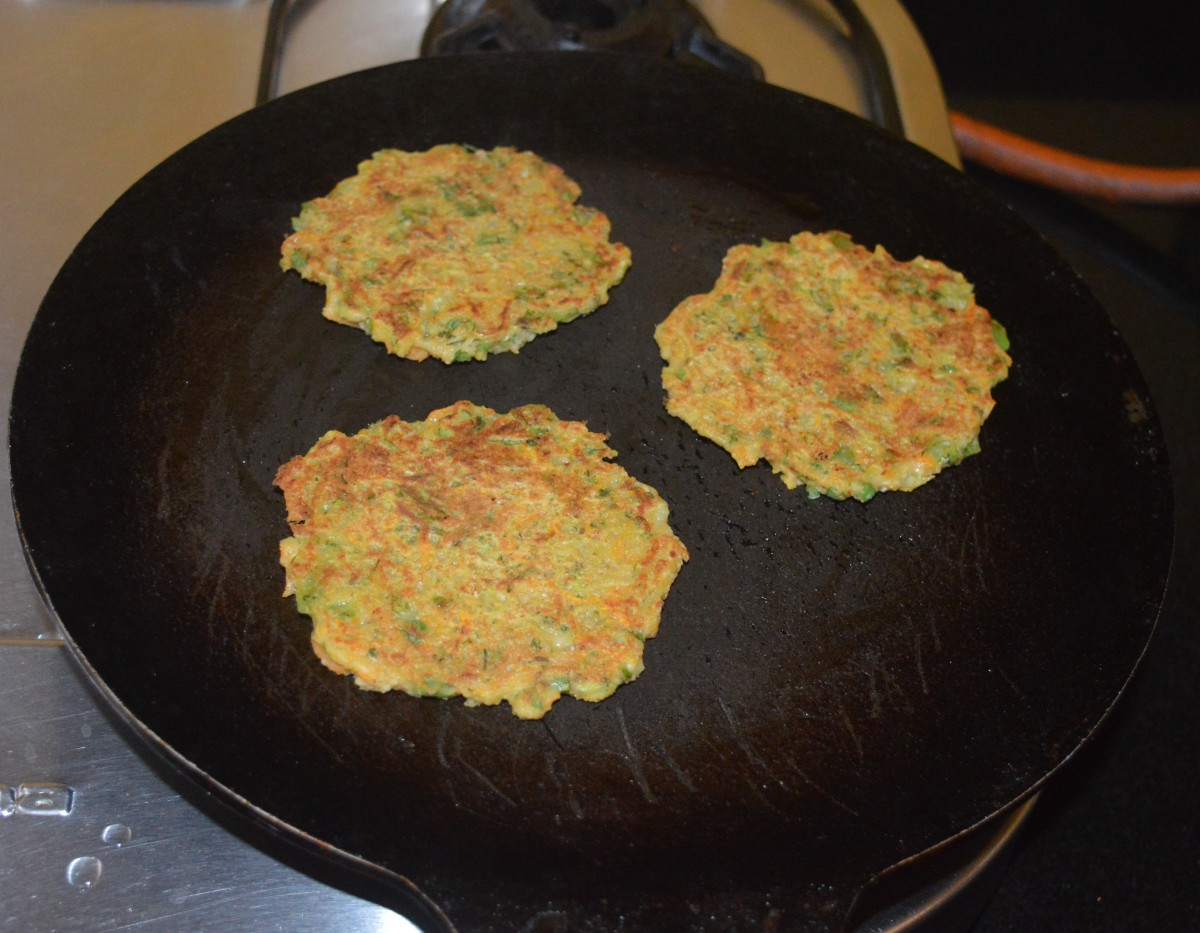 Flip each of them when the bottom side of the cheela becomes golden brown.