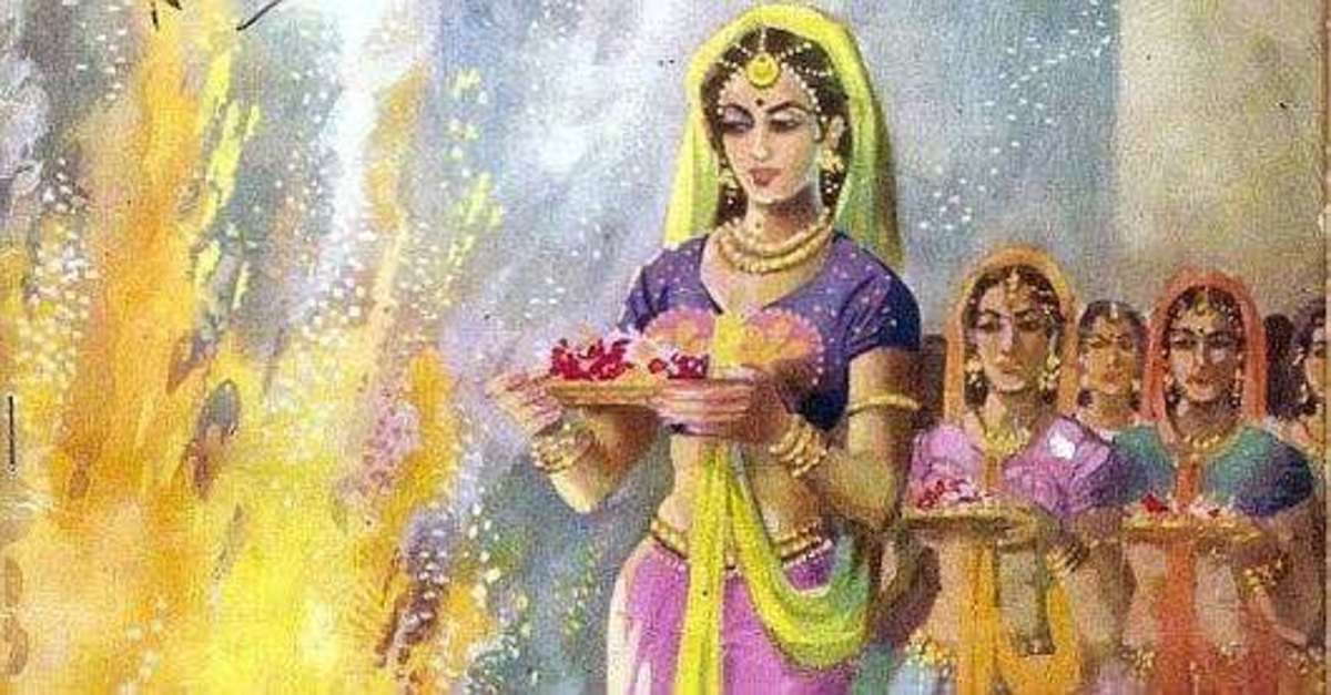the-ritual-of-jauhar-and-death-by-burning-by-rajput-women-in-medieval-india
