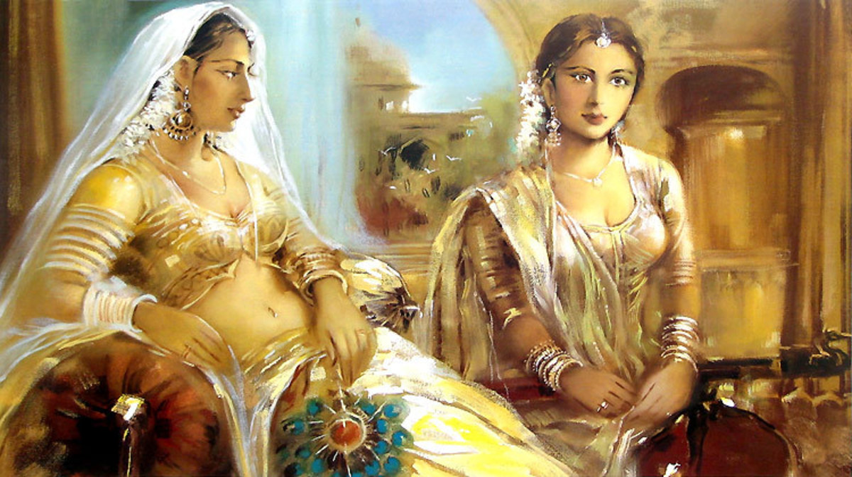 Painting of Princess with maid