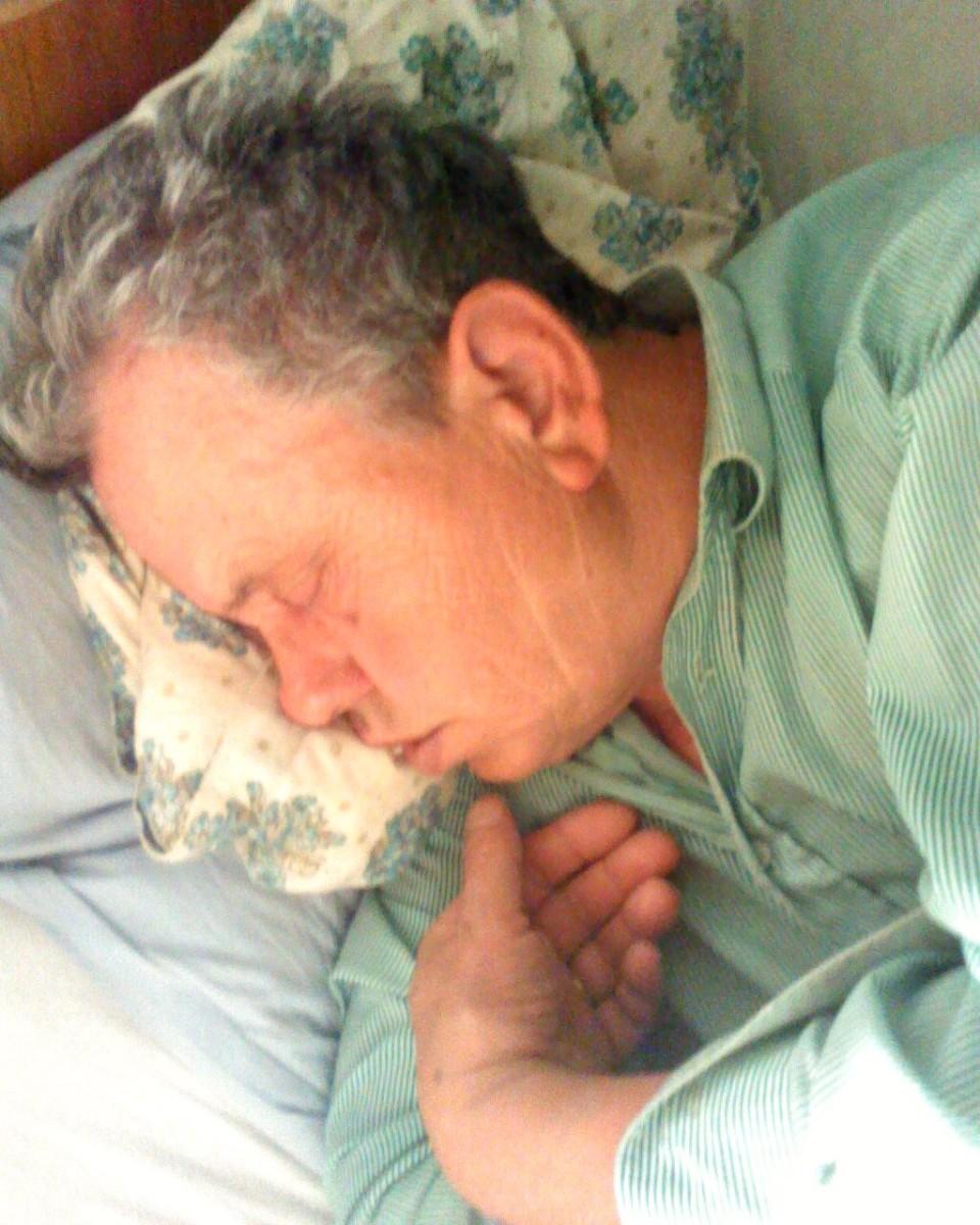 Sleeping man.