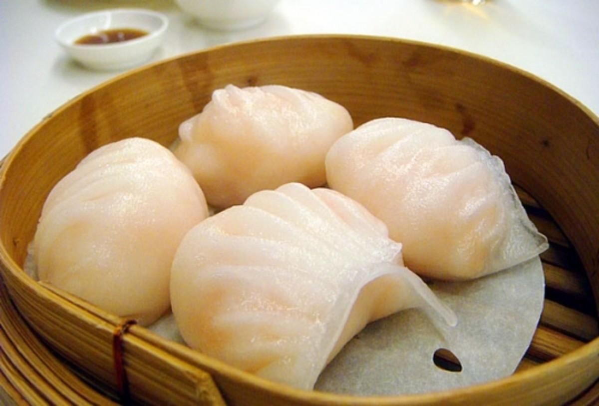 Har gow shrimp dumplings